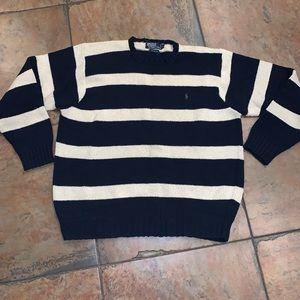 Polo Ralph Lauren vtg scoop neck sweater sz XL EUC